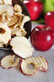 Dried apples chips Royalty Free Stock Image