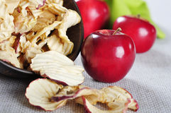 Dried apples chips Royalty Free Stock Photo