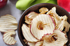 Dried apples chips Royalty Free Stock Photography