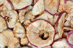 Dried apples chips Stock Photos