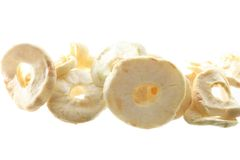 Dried apples isolated on the white background Royalty Free Stock Images
