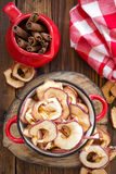 Dried apples Stock Images