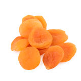 Dried Apricot over White Stock Photography