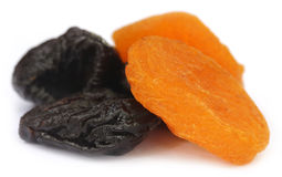 Dried apricot with prune Stock Image