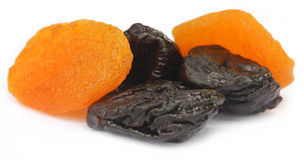 Dried apricot with prune Stock Images