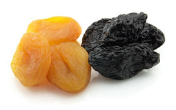 Dried apricot with prunes Royalty Free Stock Images