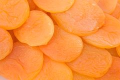 Dried apricots 1. Dried apricots as displayed in their packaging Royalty Free Stock Photography