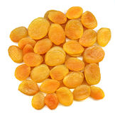 Dried apricots. Pile of dried apricots for texture or background Royalty Free Stock Photography