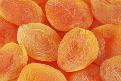 Dried apricots. Extreme close up dried apricots with selective focus. Can be used as background Stock Photography