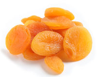 Dried apricots from above Royalty Free Stock Image