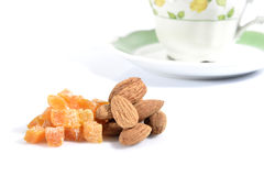 Dried apricots and almods Royalty Free Stock Photo