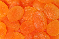 Dried apricots. Background Stock Photo