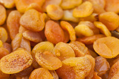 Dried apricots background Stock Image