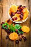 Dried apricots in the bowl Stock Photography