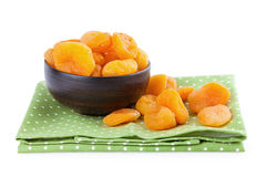 Dried Apricots in a bowl Royalty Free Stock Images