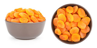 Dried Apricots In A Bowl Royalty Free Stock Image