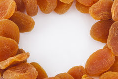Dried apricots circularly arranged Royalty Free Stock Photo