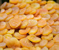 Dried apricots close-up Stock Photography