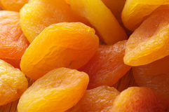 Dried apricots close-up Royalty Free Stock Photography