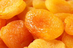 Dried apricots close-up Royalty Free Stock Photo