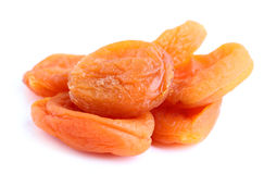 The dried apricots close-up. Royalty Free Stock Images