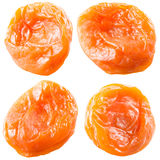 Dried apricots. Collection of fruits isolated on white. Stock Photography