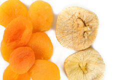 Dried apricots and dried figs Royalty Free Stock Photo