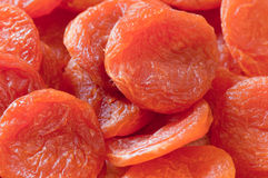 Dried apricots. Ecological food. Closeup of dried apricots. Ecological food. Viewpoint from above Royalty Free Stock Image