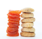 Dried apricots and fig fruits Royalty Free Stock Images