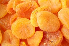 Dried apricots, full frame Stock Image