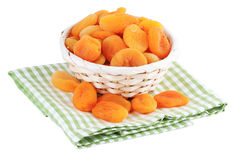 Dried Apricots isolated Royalty Free Stock Image
