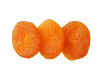 Dried apricots isolated on white background, close up Stock Photos