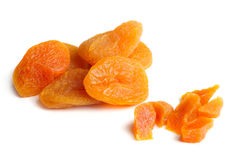 Dried Apricots Isolated on White Background Royalty Free Stock Images