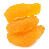 Dried Apricots Isolated on White Background Stock Images