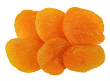 Dried apricots isolated Royalty Free Stock Images