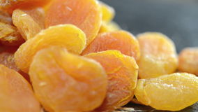 Dried Apricots (not loopable video) Stock Image