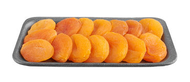 Dried apricots in package Stock Image