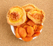 Dried apricots and peaches Stock Photography