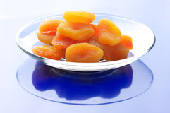 Dried apricots on plate Royalty Free Stock Photography