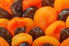 Dried apricots and prunes Royalty Free Stock Photography
