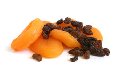 Dried apricots and raisins Stock Photos