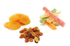 Dried apricots, raisins, candied peel Stock Images