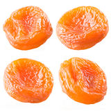 Dried apricots set isolated on white background. Royalty Free Stock Images