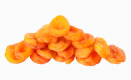 Dried apricots on white background Stock Image