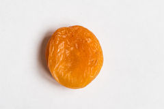 Dried apricots on a white background Royalty Free Stock Photography