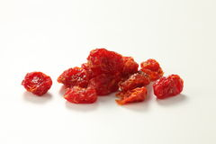 Dried Baby Tomatoes. On white background Royalty Free Stock Photos