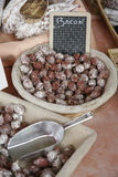 Dried bacon saucisson balls Stock Images