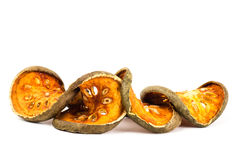 Dried bael fruit Royalty Free Stock Photos
