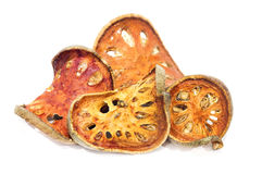 Dried bael fruits Stock Photography