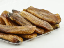 Dried banana. Close up of Dried banana Stock Image